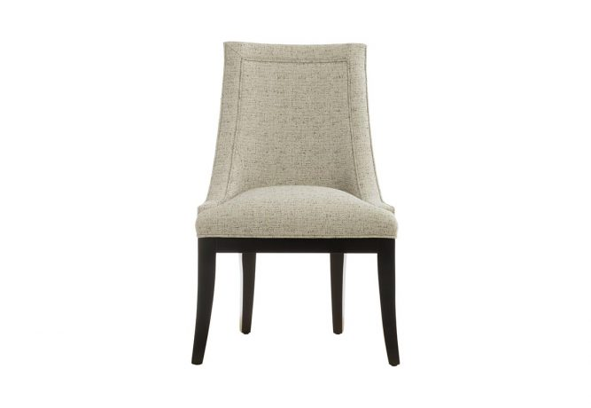 Front view of a classic dining room chair that will be the perfect accent chair for your formal traditional dining room.