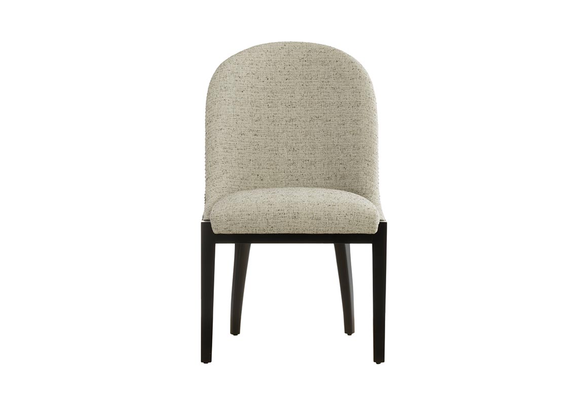 Beautiful Transitional Dining Room Chair Featuring Crypton Cream Fabric,  Curved Back, Metal Nail Head ...