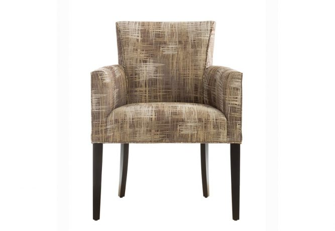 The beautiful contemporary side chair features a beautiful, rich dark brown finish on solid maple wood accent chair