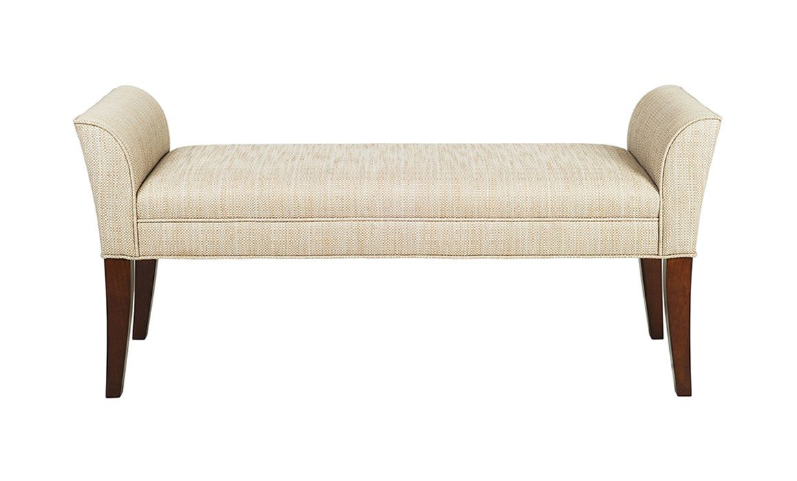 Bedroom bench with arms - Add A Touch Of Europe To Your Home With This French Inspired Upholstered Ottoman Bench With Flared Arms A Classic Design For Your Bedroom Entryway