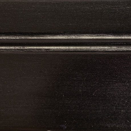 black finish with silver distressing
