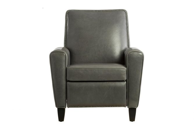 custom grey reclining chair