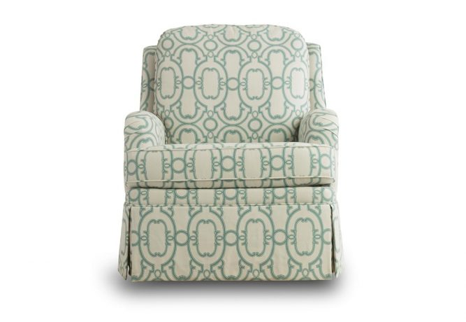 teal skirted swivel rocking chair vogel by chervin