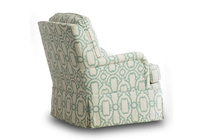 rear view of a swivel rocking chair