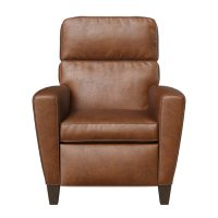 brown leather deluxe recliner