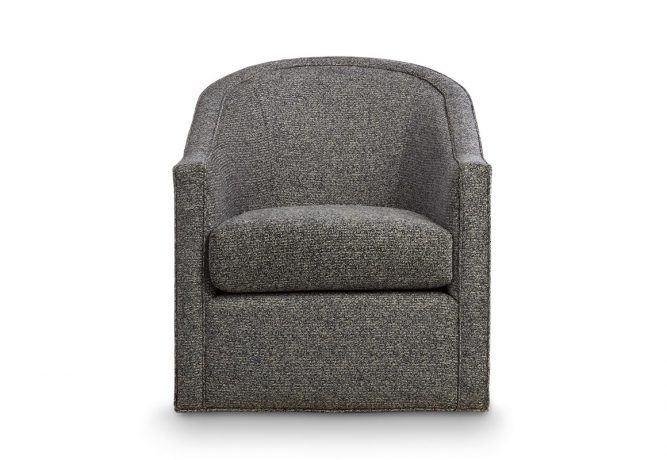 contemporary swivel chair with no nail head trim