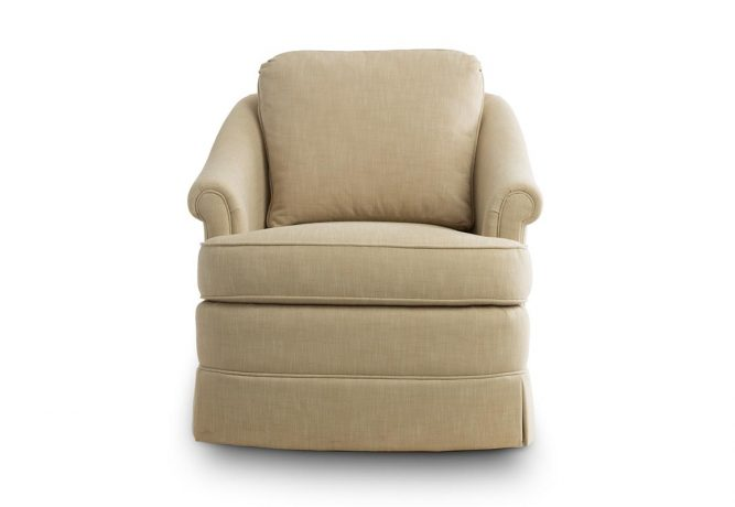 traditional custom swivel chair made in Toronto, ON