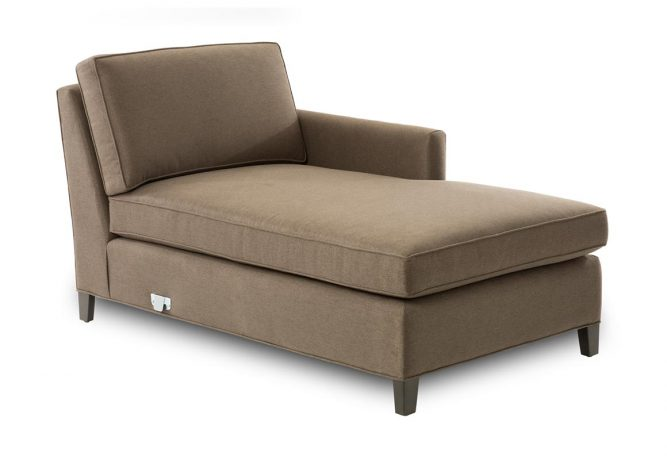 front view of a right arm facing chaise piece of sectional