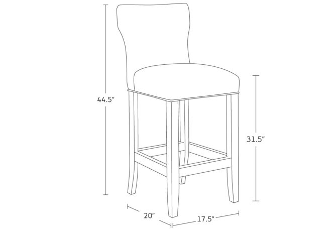 traditional bar stool drawing