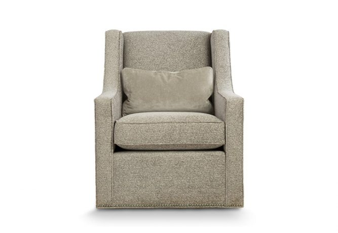 modern grey swivel chair created by master craftsmen