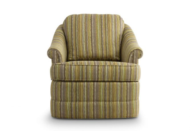 traditional swivel chair that you can choose fabrics for