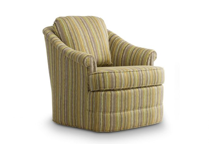 traditional swivel chair with back pillow