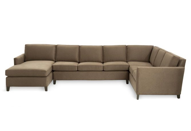 front view of a customizable sectional