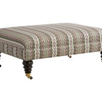 handmade rectangle ottoman with multiple leg options