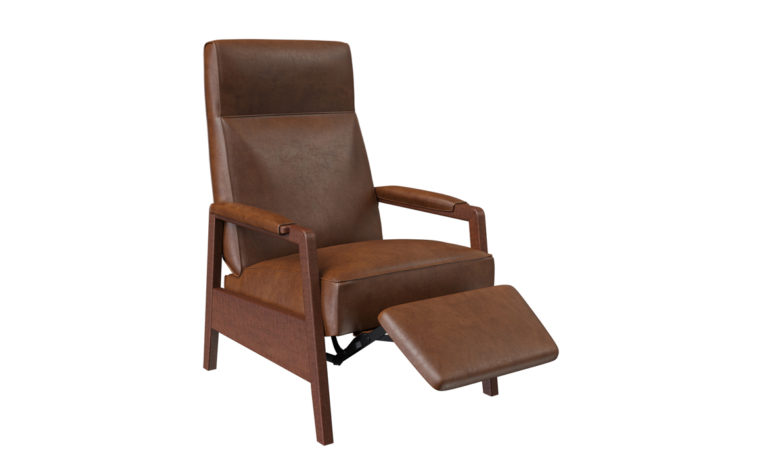 oxford recliner shown with footrest out