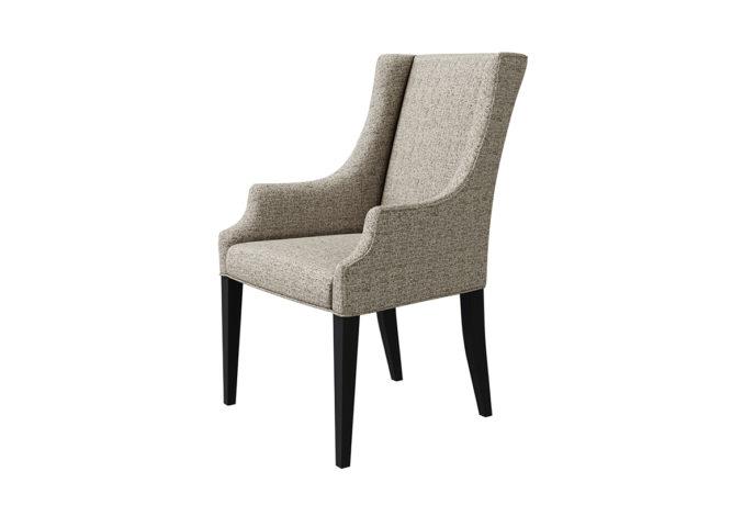 11104 Charlotte Arm Chair - angle