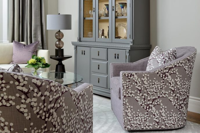 Heather Co Tub Chairs by Vogel - combination upholstery