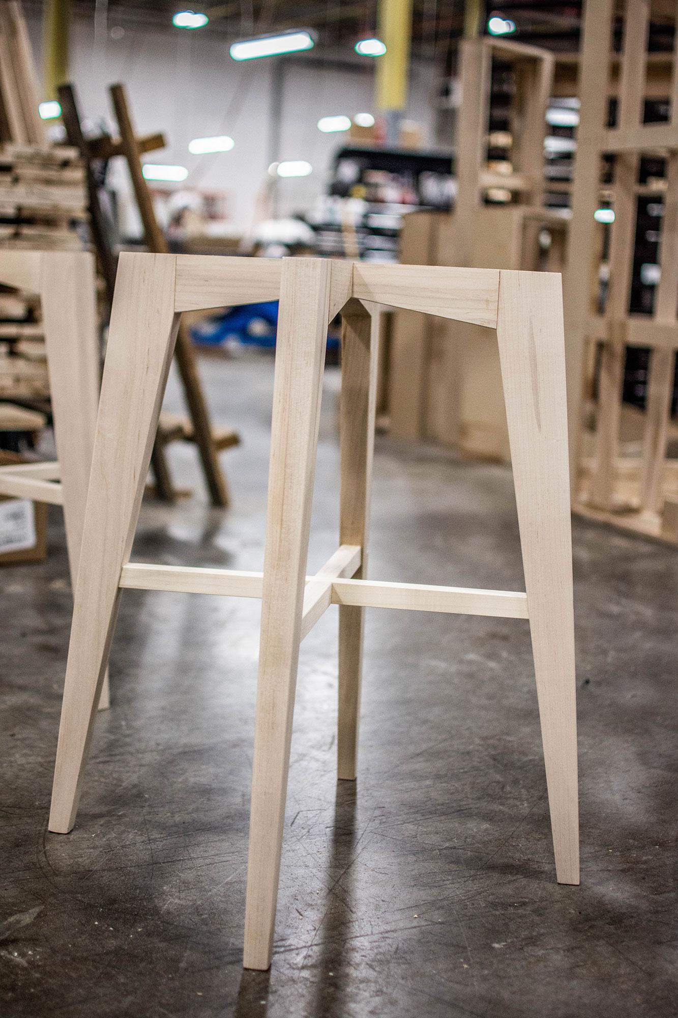 Vogel Stool Wood Frame