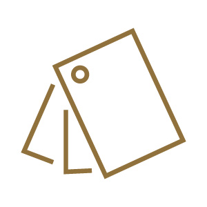 gold swatch icon on white background
