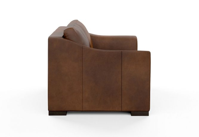 side view of contemporary loveseat