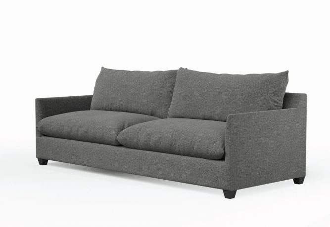 modern sofa with thin arm and extra deep seats