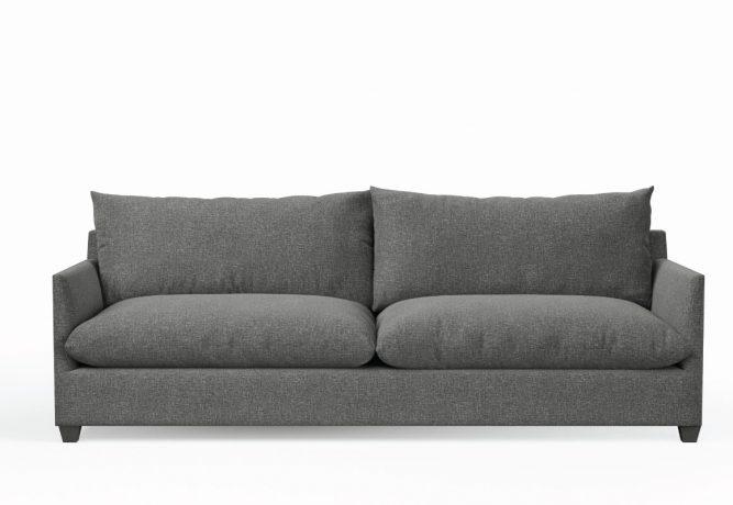 deep lounge sofa in charcoal fabric