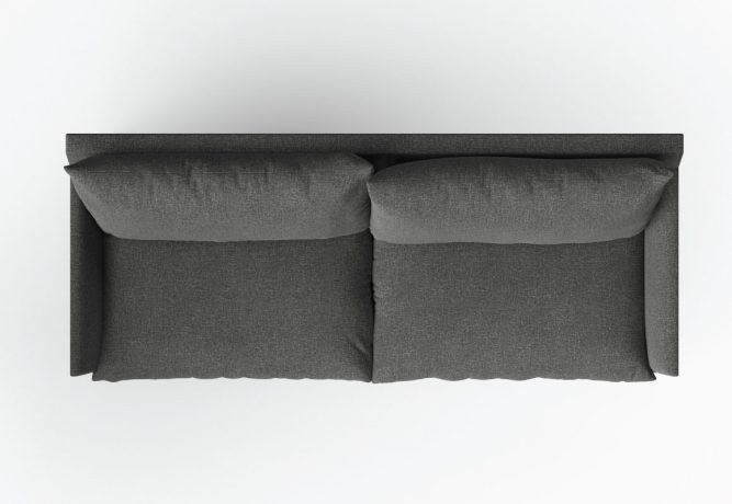 top down view of sofa